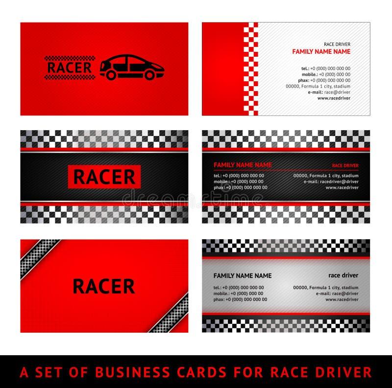 Гонка красного цвета визитных карточек бесплатная иллюстрация