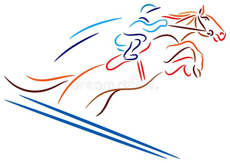 гонка лошади иллюстрация вектора