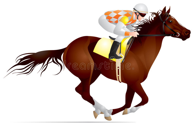 гонка лошади derby иллюстрация вектора