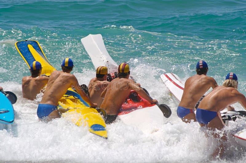гонка пляжа стоковое изображение rf
