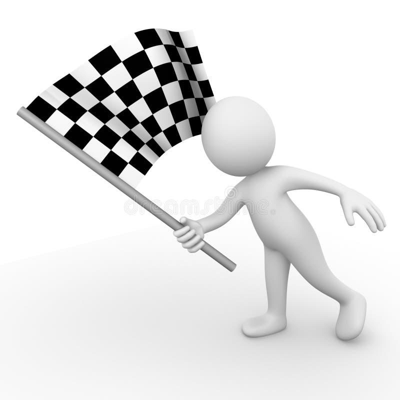 гонка флага иллюстрация штока