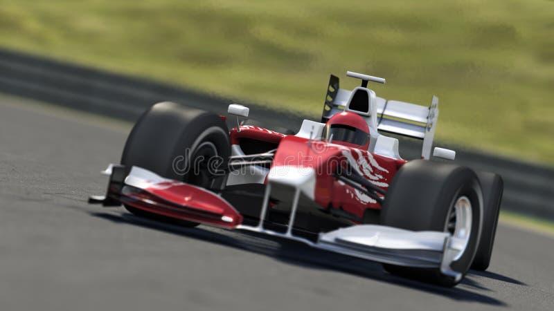 гонка Формула-1 автомобиля иллюстрация вектора