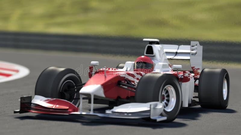гонка Формула-1 автомобиля иллюстрация штока