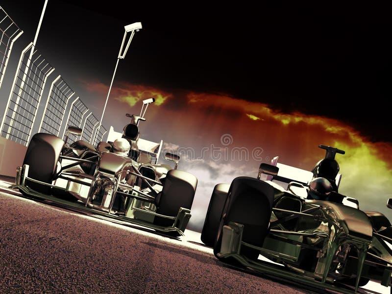 Гонка Формула-1 иллюстрация штока