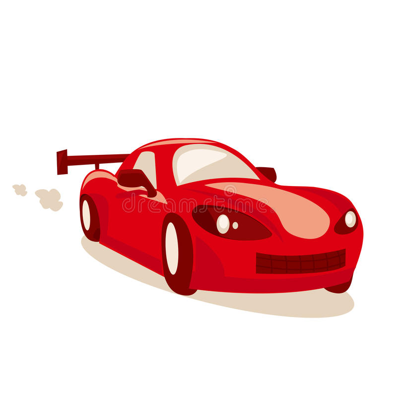 гонка шаржа автомобиля иллюстрация штока