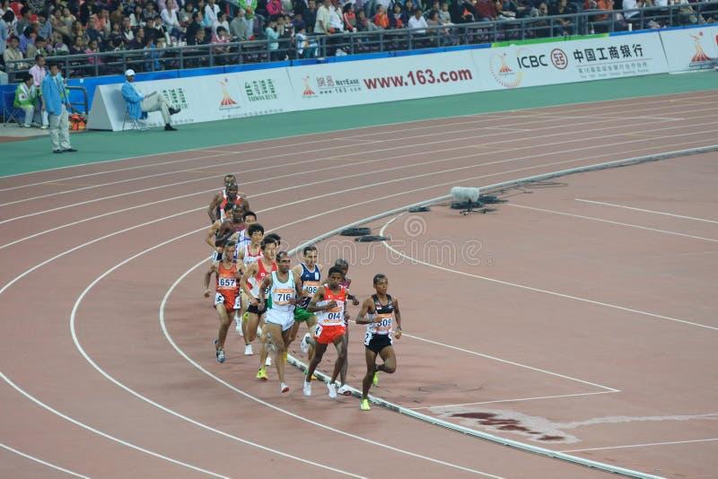 гонка 2010 азиатских игр расстояния длинняя стоковые изображения rf