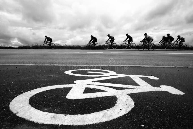 гонка bike стоковое изображение rf