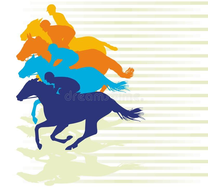 гонка gallop бесплатная иллюстрация