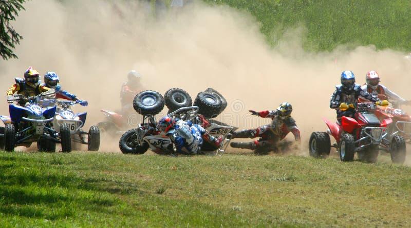 гонка motocross atv стоковые изображения