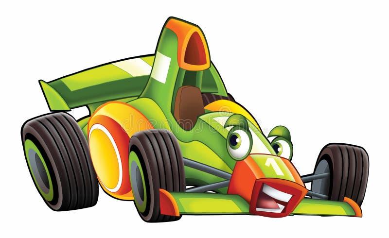 Гонки автомобиля спорт шаржа иллюстрация штока