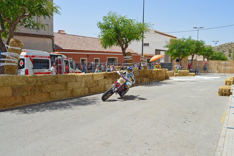 Гонки улицы мотоцикла стоковая фотография