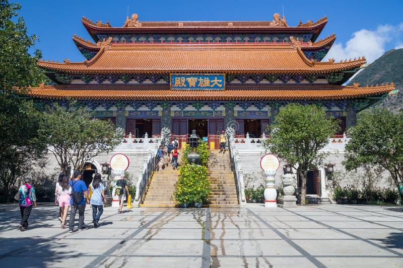 Гонконг, Китай - около сентябрь 2015: Монастырь Po Lin на острове Lantau, Гонконге стоковая фотография