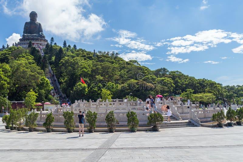 Гонконг, Китай - около сентябрь 2015: Tian Tan большой Будда на монастыре Po Lin на острове Lantau, Гонконге стоковое фото rf