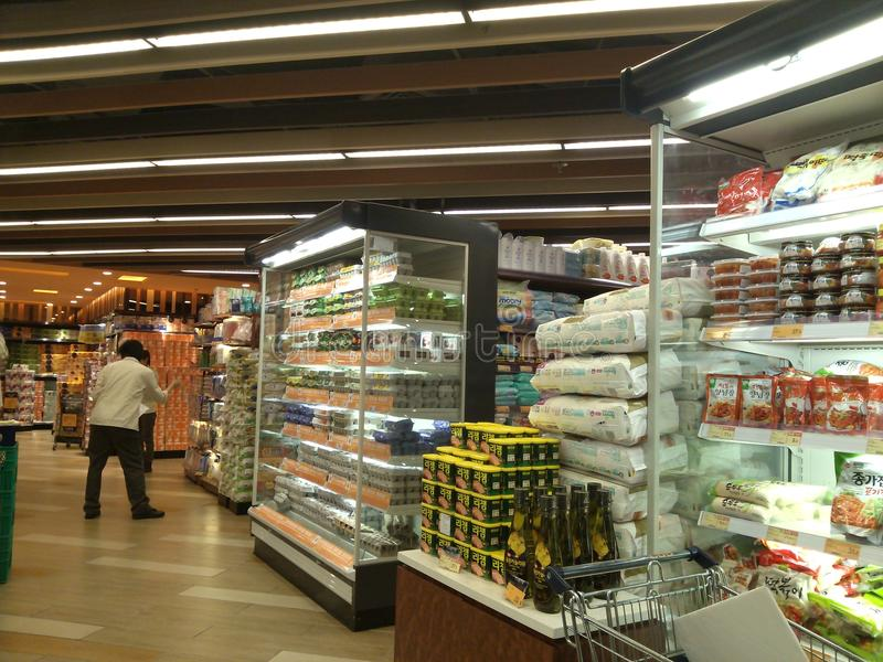 Гонконг, Китай: Супермаркет стоковое изображение