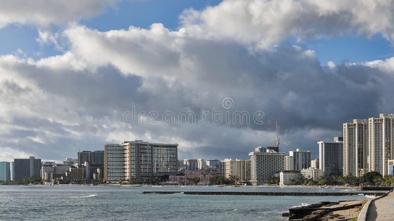 Гонолулу, остров Оаху, Гаваи - 27-ое сентября 2017 стоковое изображение rf