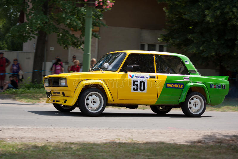 Гоночный автомобиль ралли Lada VAZ 2105 стоковое изображение