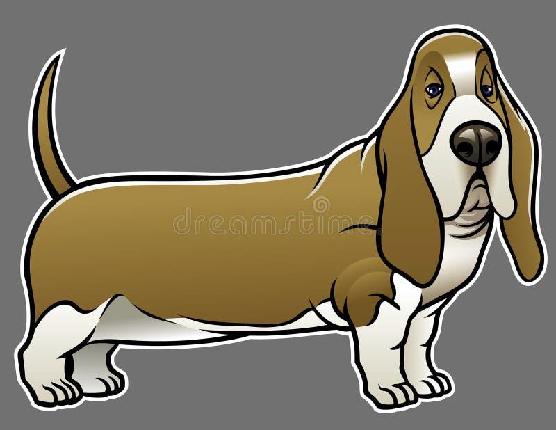 Гончая собака выхода пластов иллюстрация вектора
