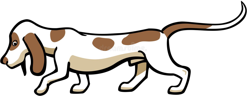 Гончая собака выхода пластов иллюстрация штока