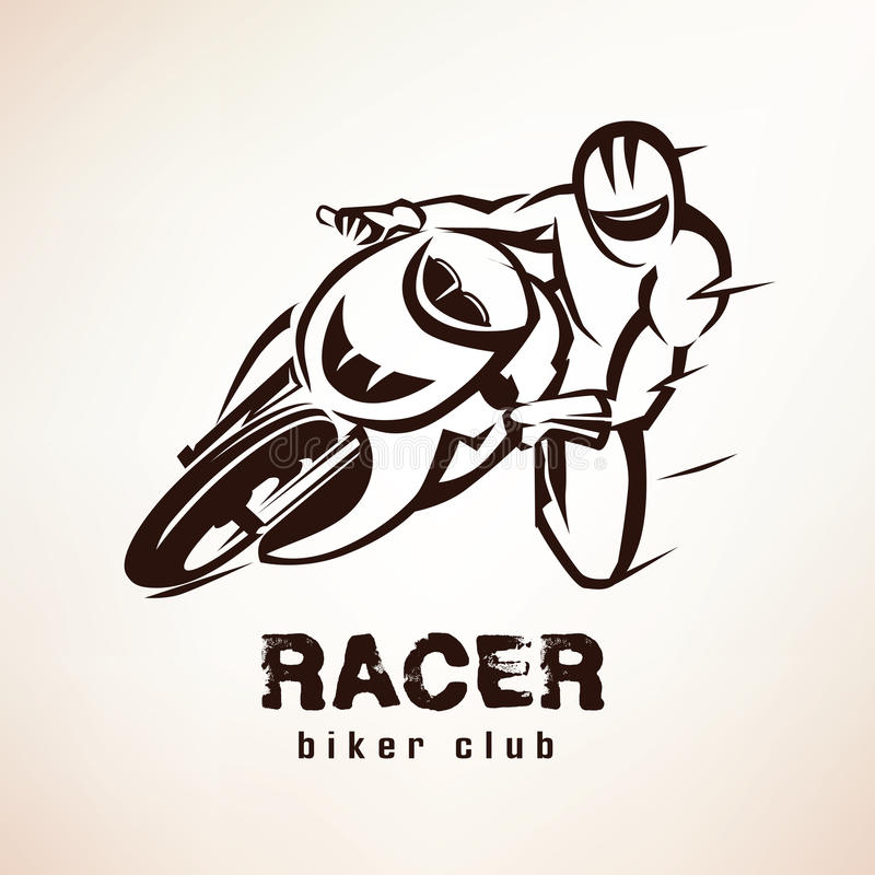 Гонщик, символ велосипеда спорта бесплатная иллюстрация
