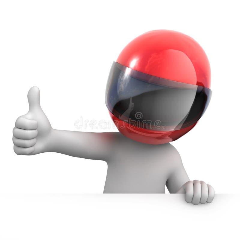 Гонщик с большим пальцем руки вверх иллюстрация вектора
