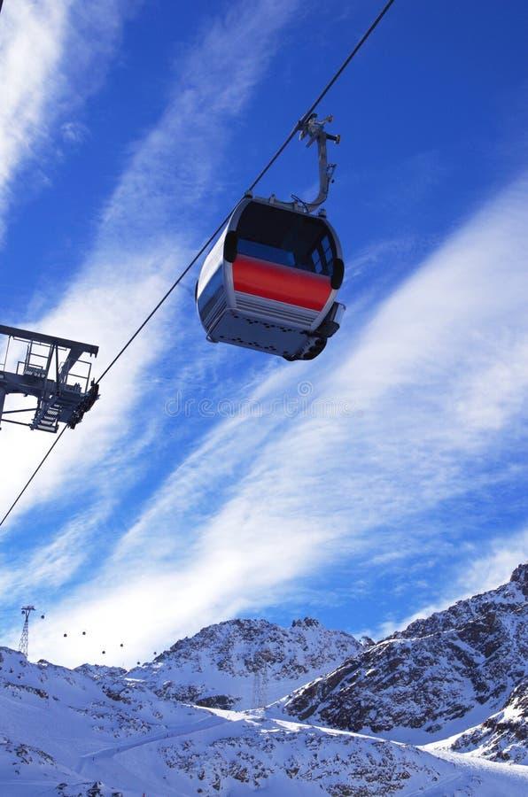 Гондола лыжи стоковое изображение