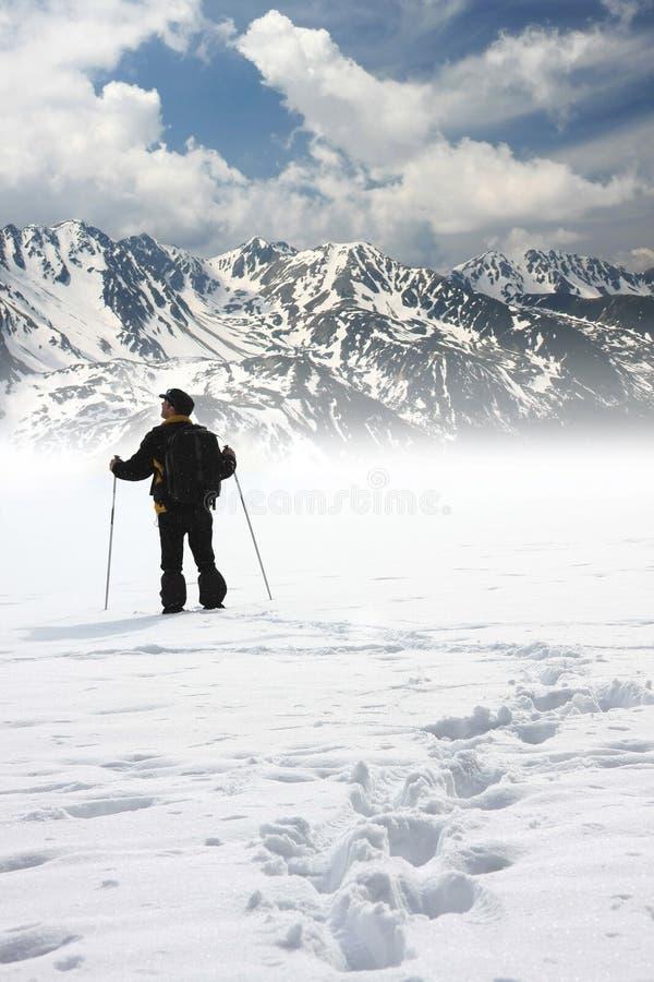 гора альпиниста стоковые фото