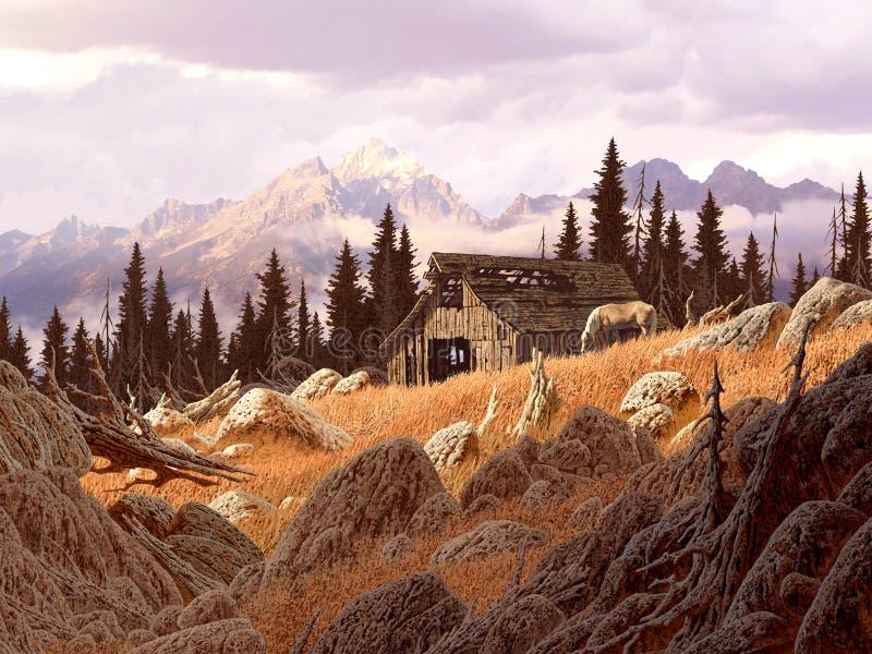 Download гора амбара иллюстрация штока. иллюстрации насчитывающей вайоминг - 491884