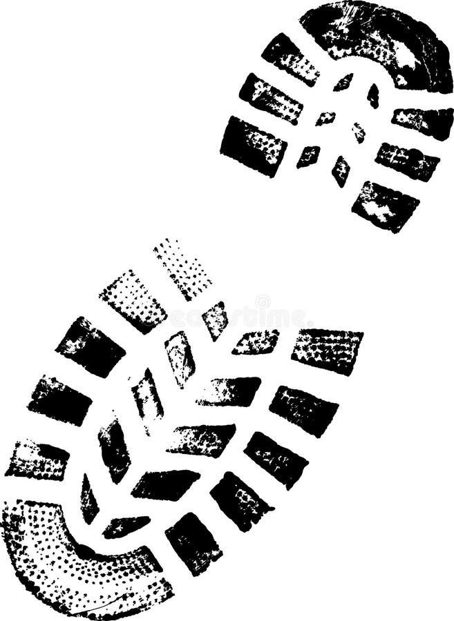 гора ботинка иллюстрация вектора