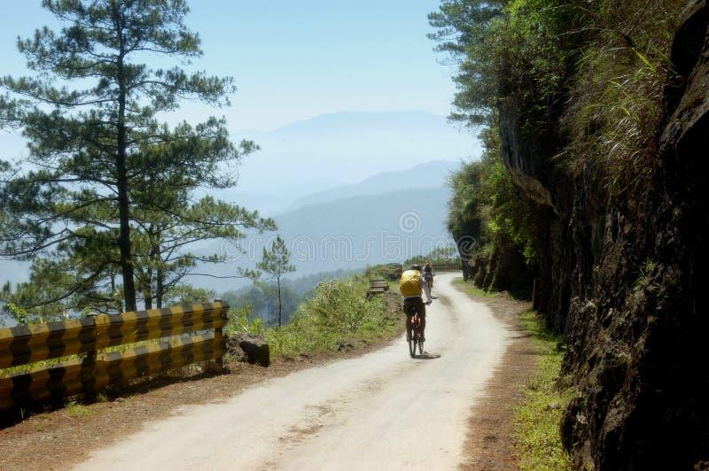 гора велосипедистов стоковая фотография