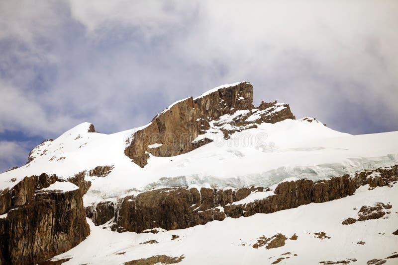 Гора вокруг озера пустын, Аргентины стоковое фото rf