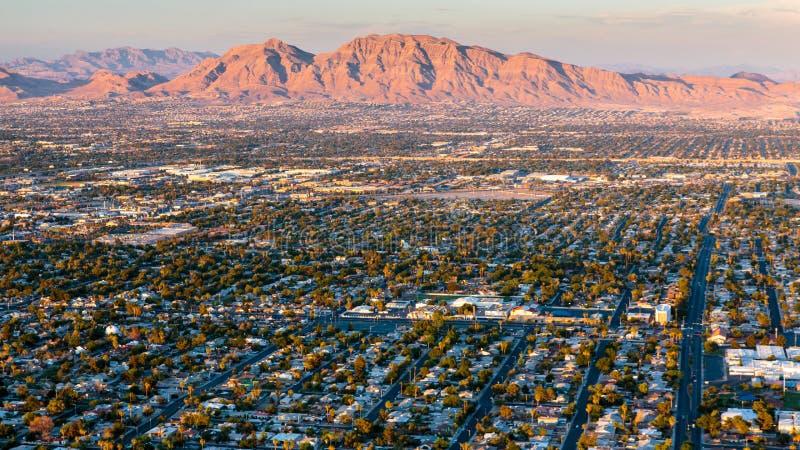 Гора восхода солнца Лас-Вегас стоковая фотография rf