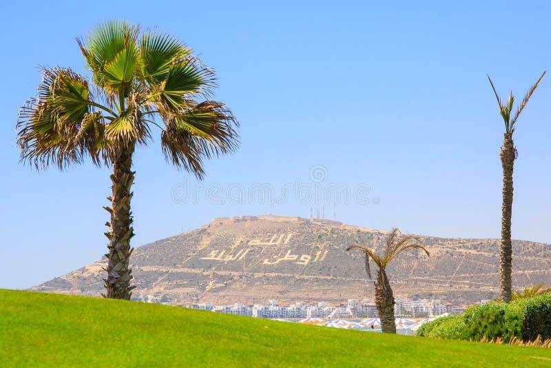 Гора в Агадире, Марокко стоковая фотография