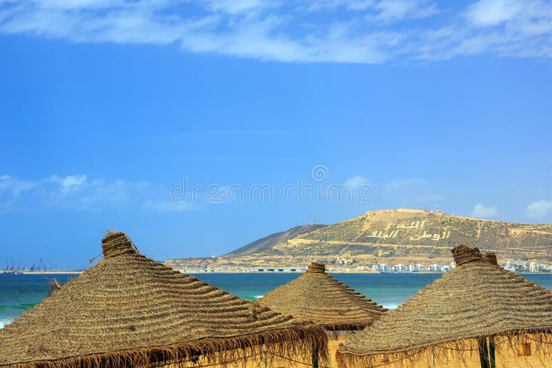 Гора в Агадире, Марокко стоковое фото rf