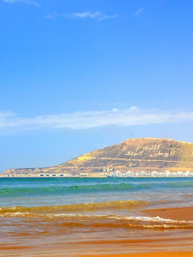 Гора в Агадире, Марокко стоковое изображение rf