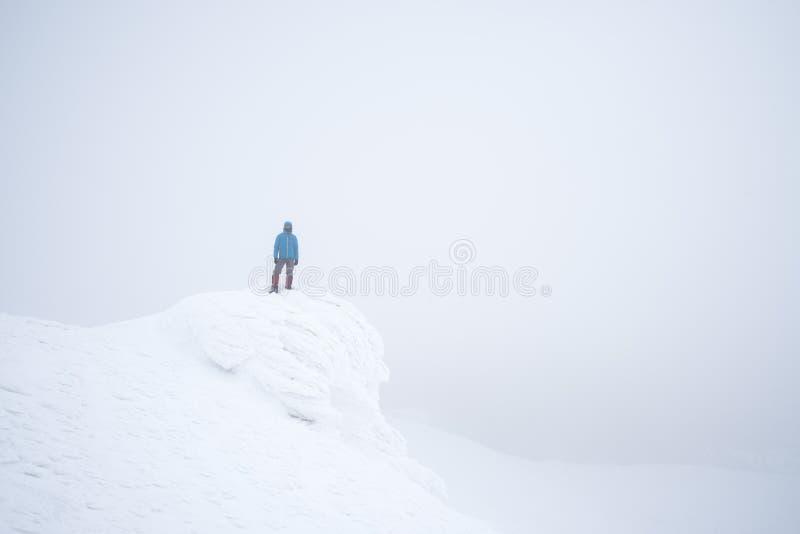 Гора в зиме стоковая фотография