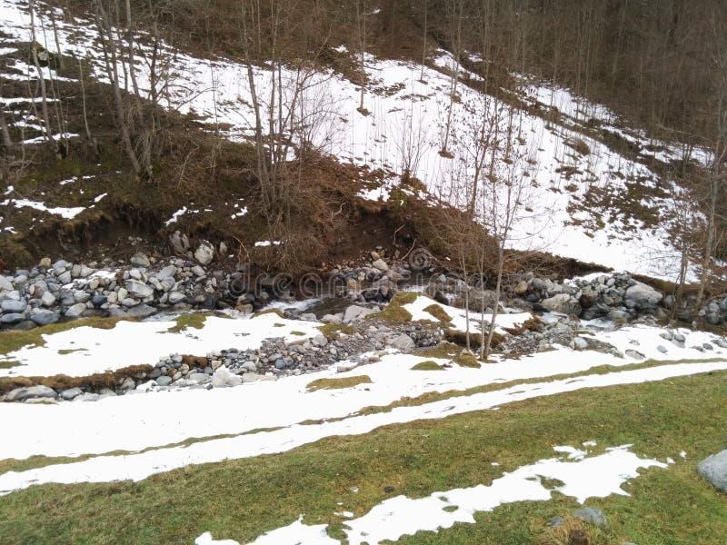 Гора в зиме стоковое изображение