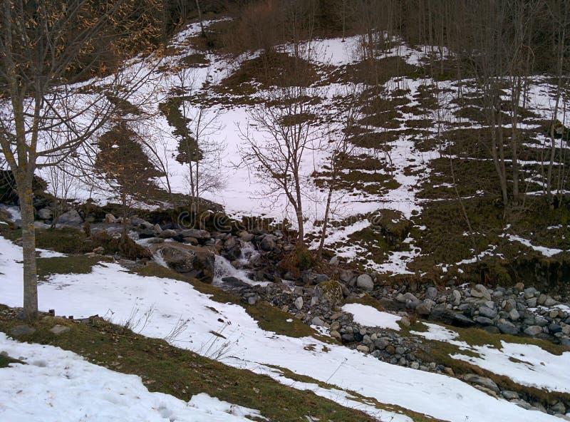 Гора в зиме стоковые изображения rf