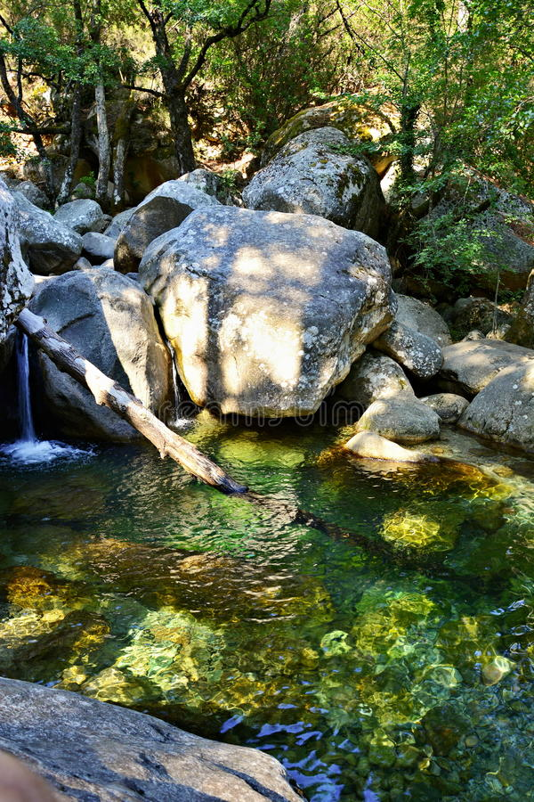 Гора в каньон Корсике, реке стоковые изображения