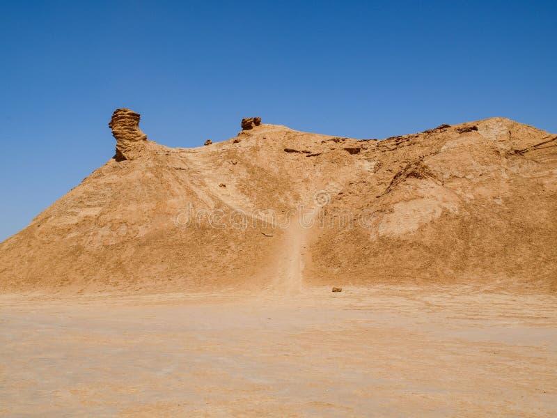 Гора в пустыне Туниса, в форме походя верблюд стоковая фотография
