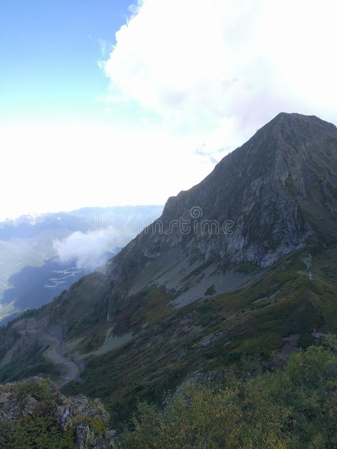 Гора в Сочи стоковая фотография