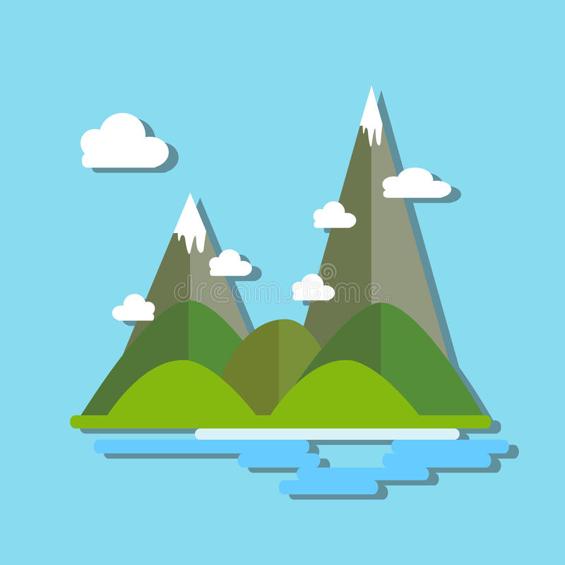 Гора заволакивает предпосылка природы реки стоковая фотография