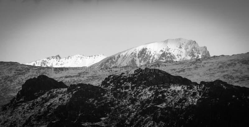 Гора зимы Норвегии стоковые изображения rf