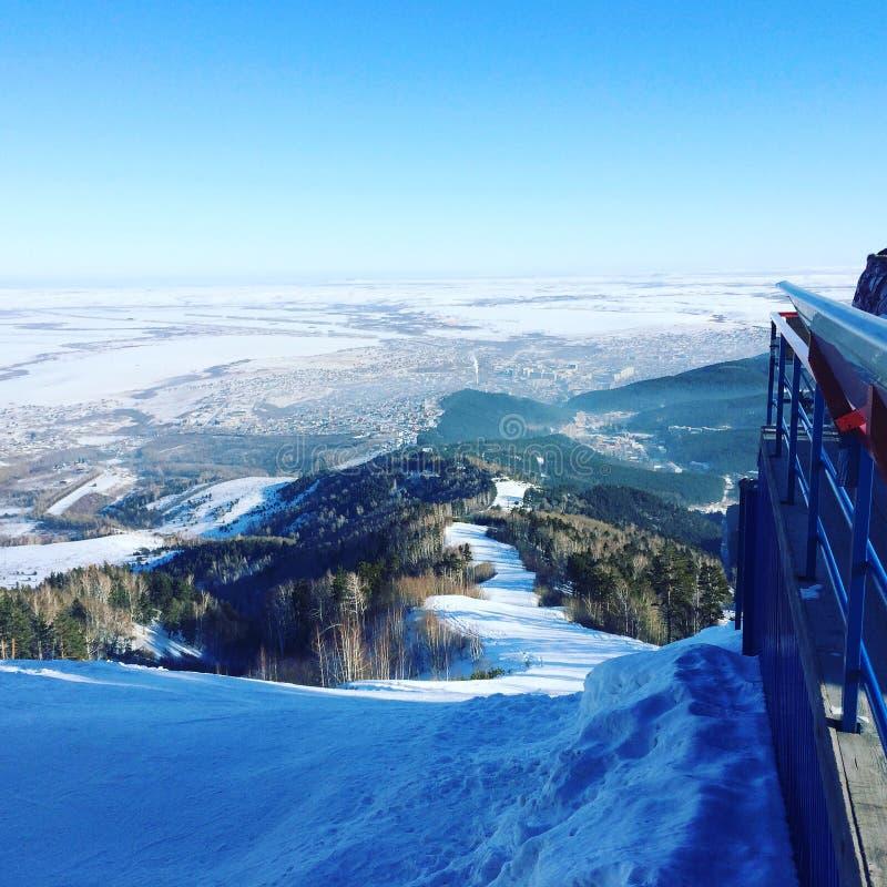 Гора зимы стоковые фото