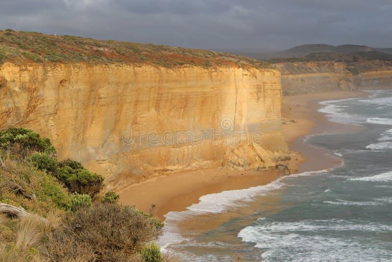 Гора известняка на пляже Мельбурна стоковые фото