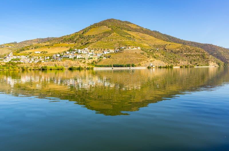 Гора и река стоковые изображения