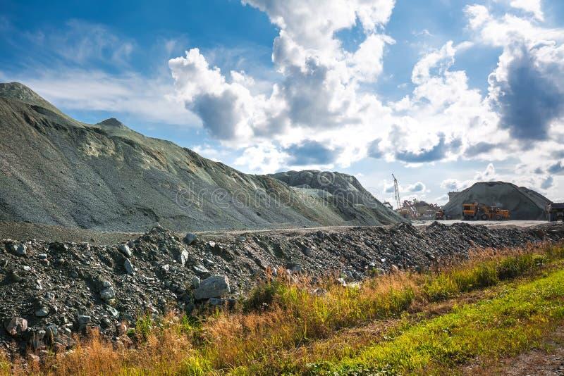 Гора каменного щебня Сибирь, Россия стоковое фото