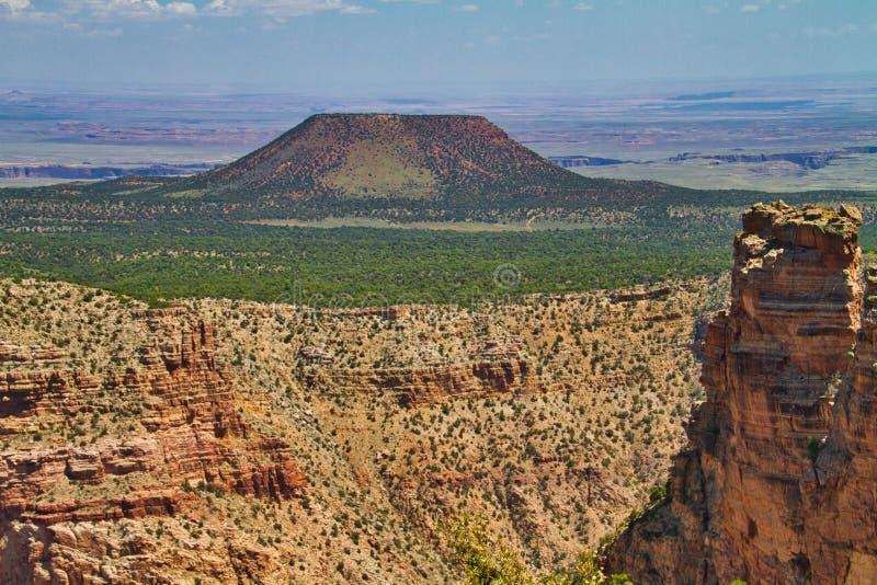 Гора кедра от сторожевой башни взгляда пустыни стоковое изображение rf