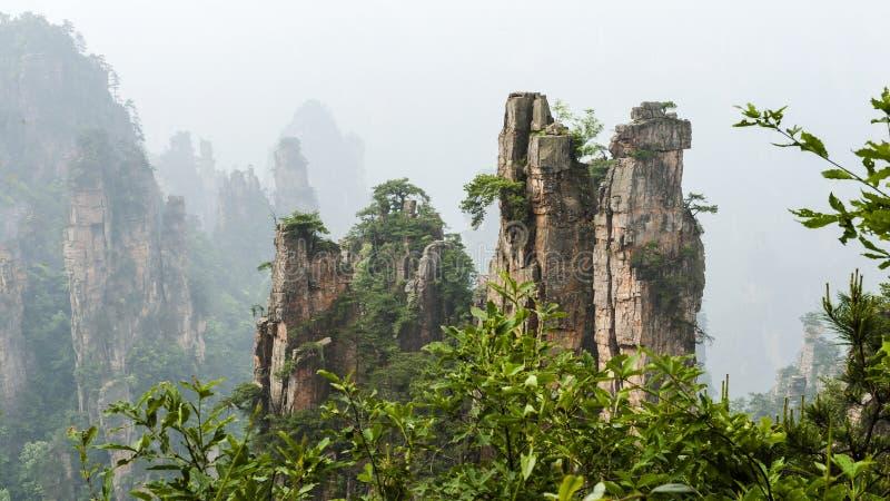 Гора Китая на Zhang Jie Jia стоковое фото