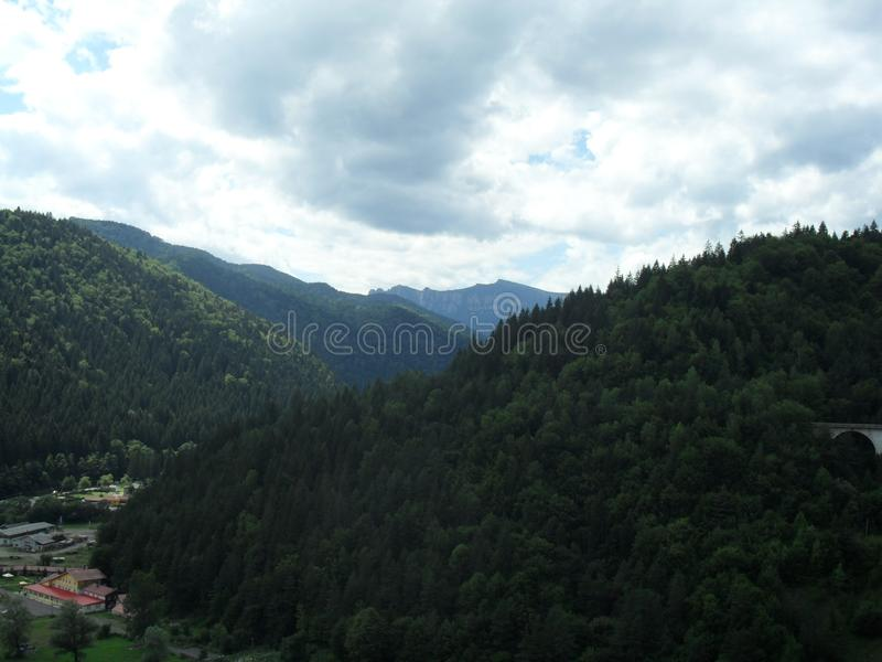 Гора к далеко стоковая фотография