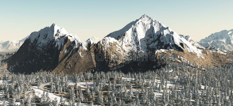 гора ландшафта снежная иллюстрация штока